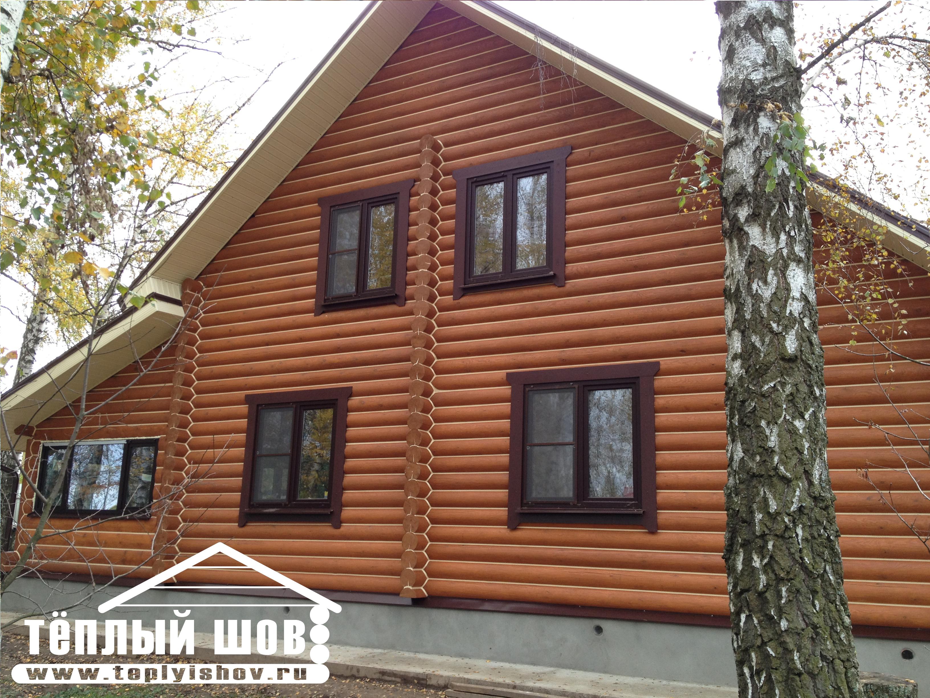 Герметизация деревянных домов теплый шов